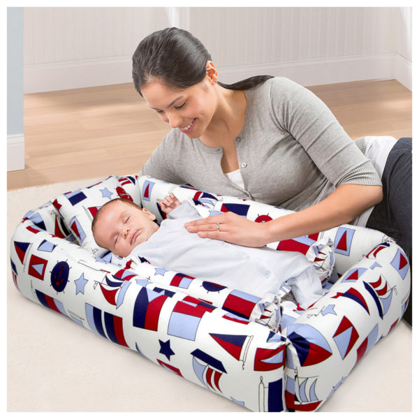 Baby Soft Mattress Bed Red & Blue