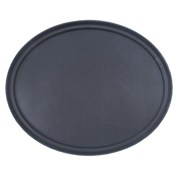 Black Non Slip Oval Tray 63cm