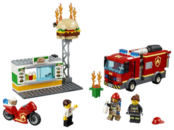 LEGO 60214 Fire at the Burger Restaurant Toy