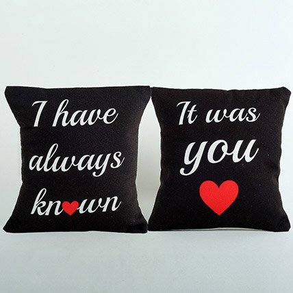Cushion Print with Couple design