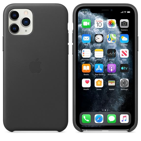 Apple Leather Case Black iPhone 11 Pro Max