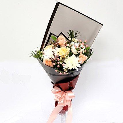 Symphonious Roses & Delistar Mixed Bouquet