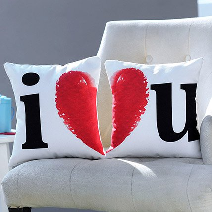 Cushion Set I Love You Printed