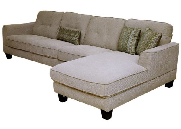Pan Emirates Chirag (N) Corner Sofa Set (RHF) Cream
