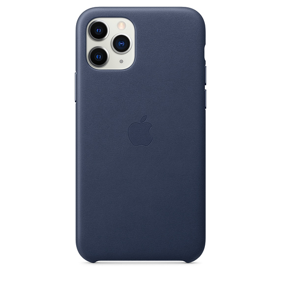 Apple Leather Case Midnight Blue iPhone 11 Pro Max