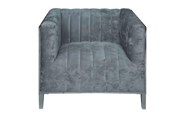 Pan Emirates Brazzaville Single Seater Sofa Grey