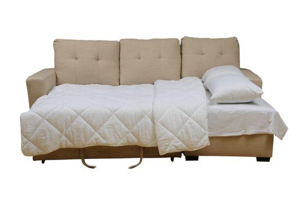 Pan Emirates Quebec Corner Sofa Cum Bed Beige