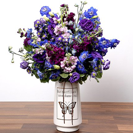 Purple & Blue Flower Arrangement