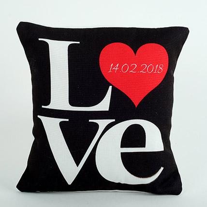 Decorative Cushion Black Love Cushion