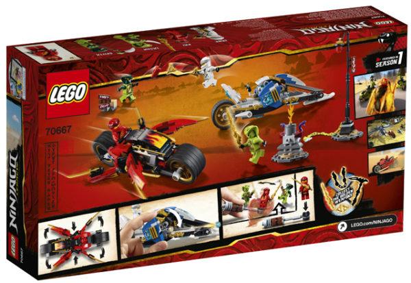 LEGO 70667 Kai`s Blade Cycle and Zane`s Snowmobile Toy