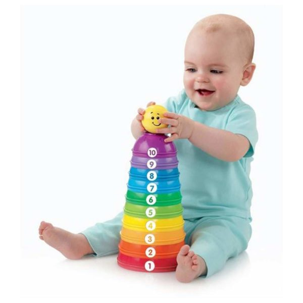 Fisher Price Brilliant Basics Stack & Roll Cups Set