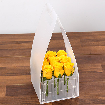 Sunshine Yellow Rose Box