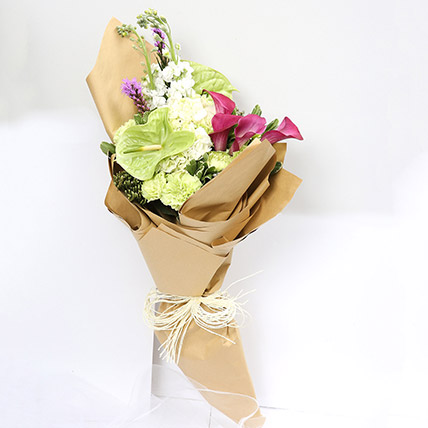 Beautiful Calla Lilies & Carnations Bouquet