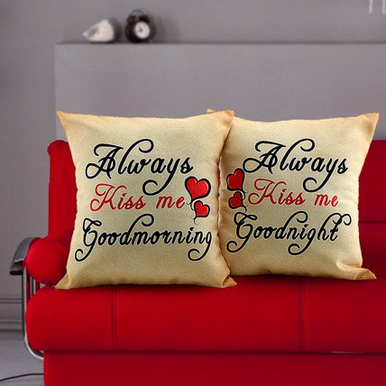 Cushions Printed Always Kiss Me