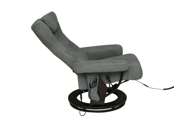 Pan Emirates Malmo Recliner With Massage & Ottoman Grey