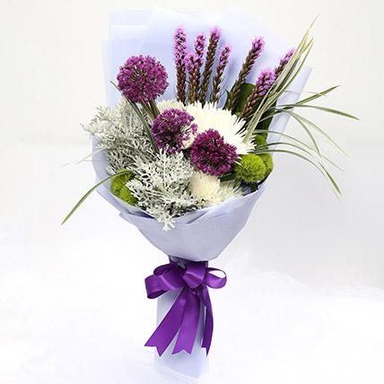 Enchanting Delistar & Liatris Mixed Bouquet