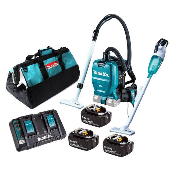 Makita DLX2248PT1 18V Li-Ion Vacuum Cleaner Combo Kit