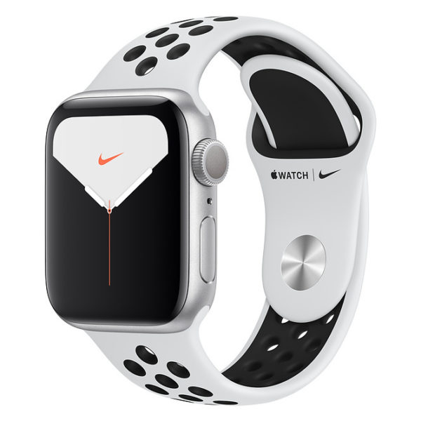 Apple Watch Nike Series 5 GPS + Cellular 40mm Silver Aluminium Case with Pure Platinum/Black Nike Sport Band