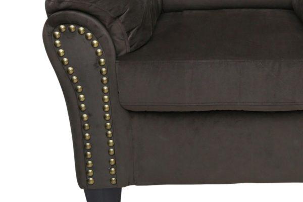 Pan Emirates Leonardo Single Seater Sofa Choco