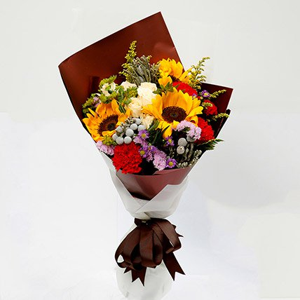 Joyful Bouquet Of Mixed Flowers