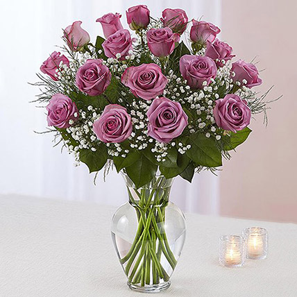 Bunch of 20 Light Purple Roses