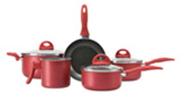 Brinox Cookware Set Malagueta Cherry Red 8pcs With Lid