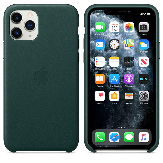 Apple Leather Case Forest Green iPhone 11 Pro