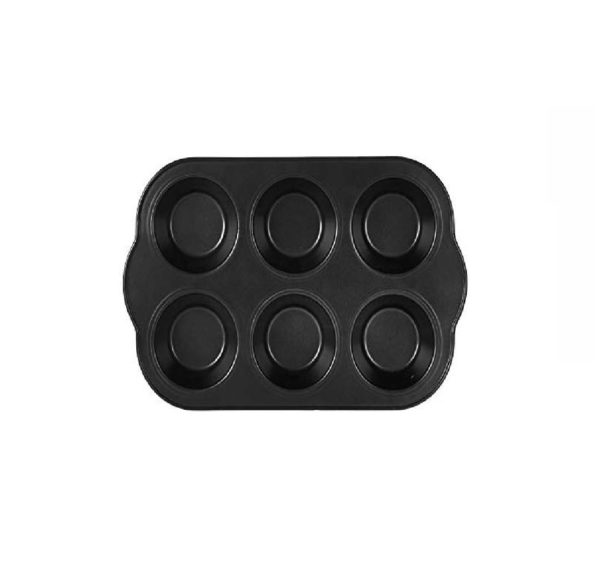 RoyalFord 6 Cup Muffin Pan Black 27x18cm