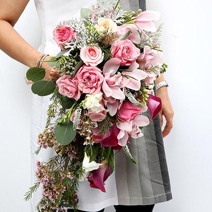 Mixed Roses & Calla Lilies Bouquet