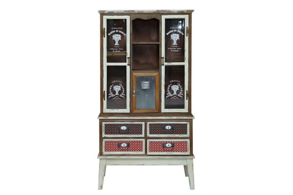 Pan Emirates Lakewood Storage Cabinet 4 Drawer + 3 Door