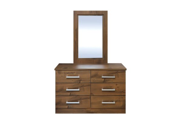 Pan Emirates Milano Dressing Table With Mirror Walnut