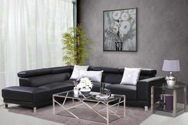 Pan Emirates Danli Corner Sofa (LHF) Black