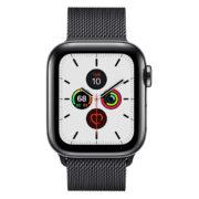 Apple Watch Series 5 GPS + Cellular 40mm Space Black Stainless Steel Case with Space Black Milanese Loop