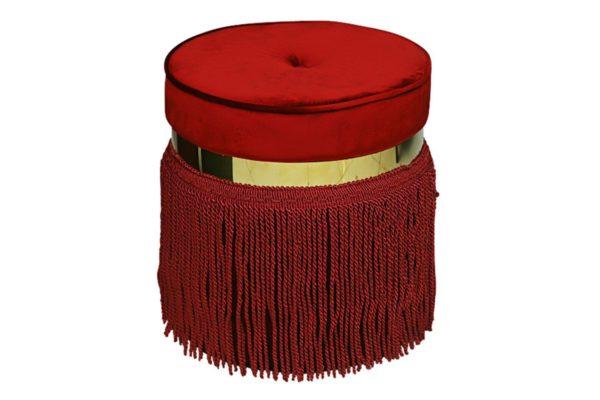 Pan Emirates Nessie Ottoman Red