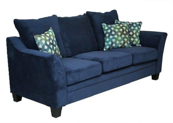 Pan Emirates Midtown 3 Seater Sofa Dark Blue