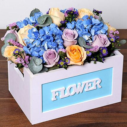 Roses & Hydrangea Arrangement