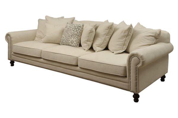 Pan Emirates Tuxedo 4 Seater Sofa Beige