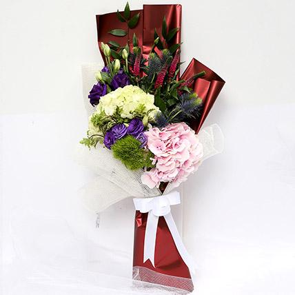 Wondrous Eryngium & Hydrangea Bouquet