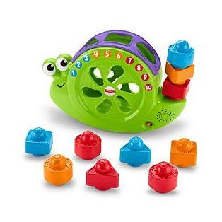Fisher Price Rock N Sort Snail Pail Toy