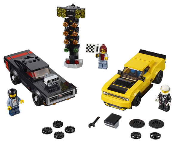 LEGO 75893 2018 Dodge Challenger SRT Demon and 1970 Dodge Charge Toy