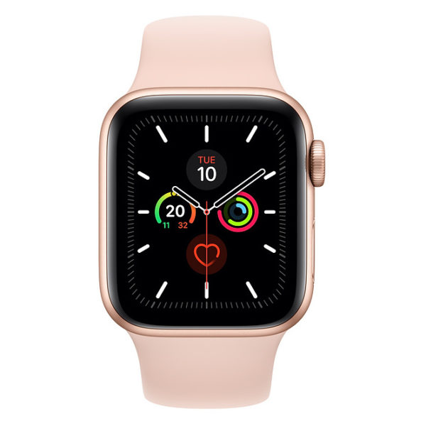 Apple Series 5 GPS + Cellular 44mm Gold Aluminium Case with Pink Sand Sport Band