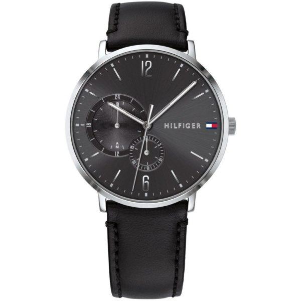 Tommy Hilfiger Brooklyn Black Leather Watch For Men 1791509