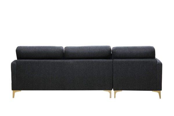Pan Emirates Snowball Corner Sofa (LHF) Black