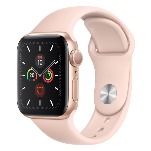 Apple Series 5 GPS + Cellular 40mm Gold Aluminium Case with Pink Sand Sport Band