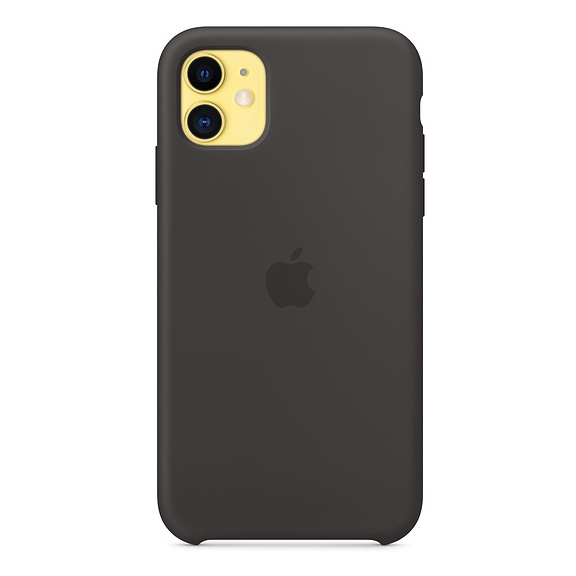 Apple Silicone Case Black iPhone 11
