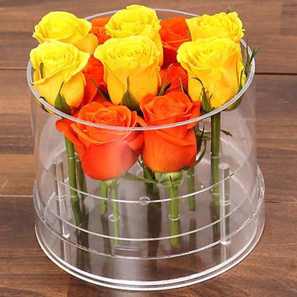Bright Orange & Yellow Roses