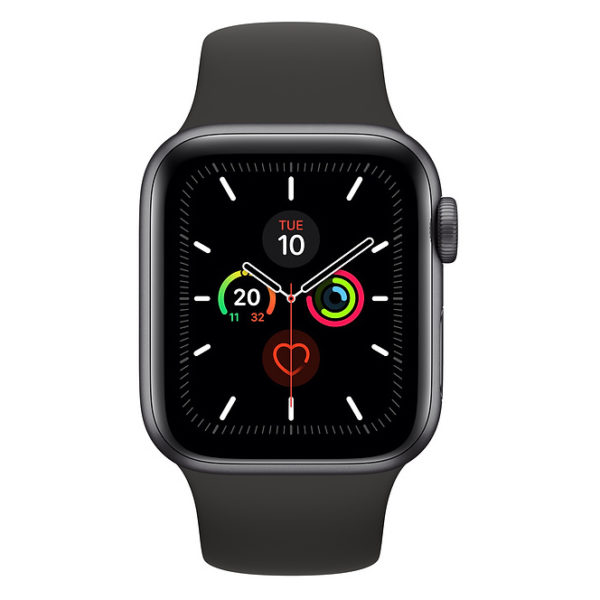 Apple Series 5 GPS + Cellular 40mm Space Grey Aluminium Case with Black Sport Band