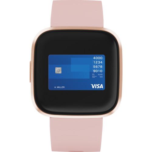 Fitbit Versa 2 Smartwatch Petal/Copper Rose Aluminum