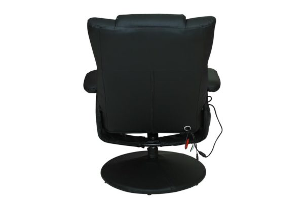 Pan Emirates Moleka Recliner With Massage & Ottoman Black
