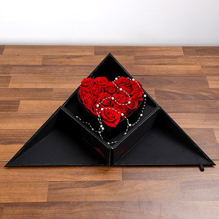 Red Roses In Folding Box